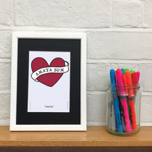 I Am Loved - Amata Sum - A5 Framed Artwork