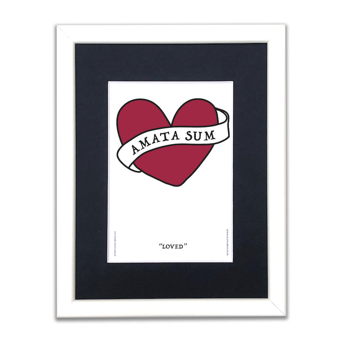 I Am Loved - Amata Sum - A5 Framed