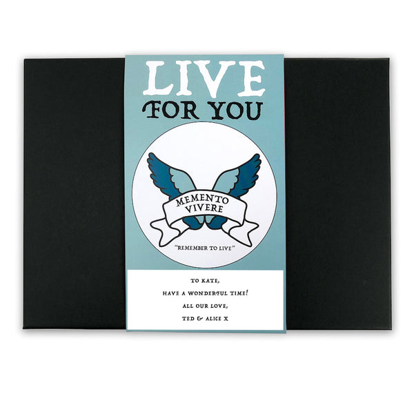 Remember to Live - Latin Motto - Personalised Gift Box