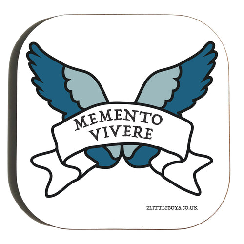 Remember to Live - Latin Motto - Coaster