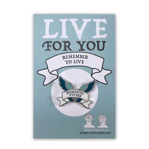 Remember to Live - Latin Motto Enamel Pin