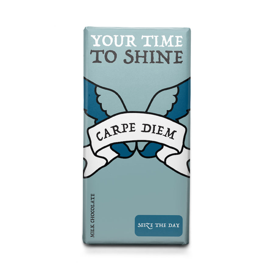 Seize the Day - Latin Motto - Milk Chocolate Bar