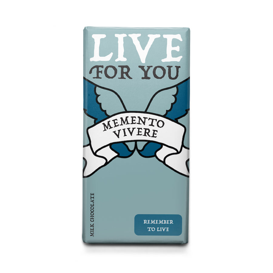Remember to Live - Latin Motto Milk Chocolate Bar