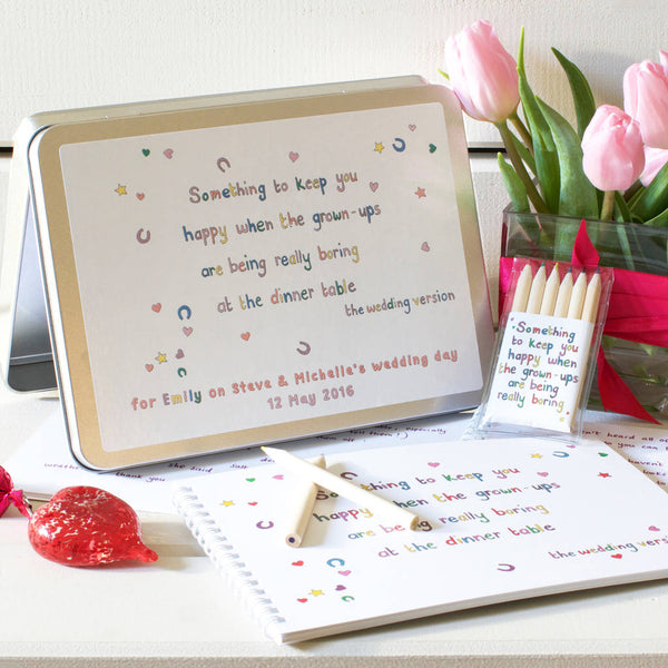 Personalised Wedding Activity Pack for Children