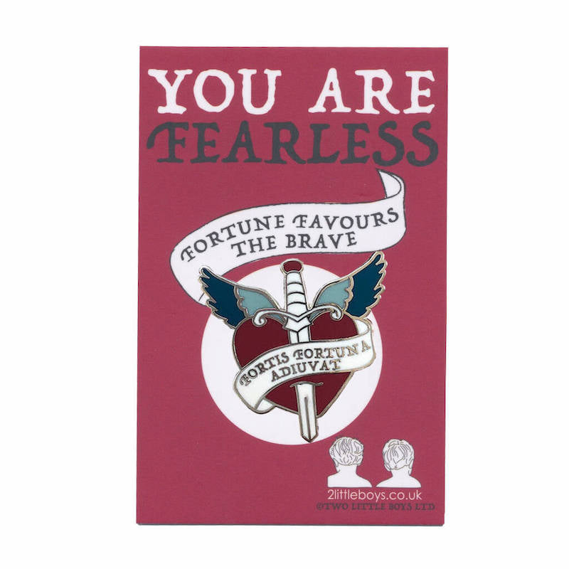 Fortune Favours the Brave - Latin Motto - Enamel Pin