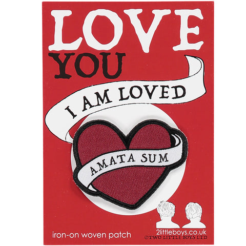 I am Loved - Latin Motto - Iron-On Woven Patch