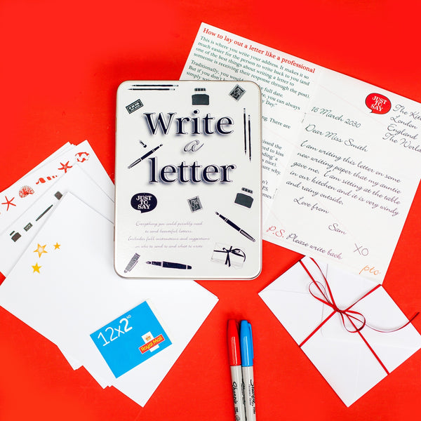 Write a letter tin gift set