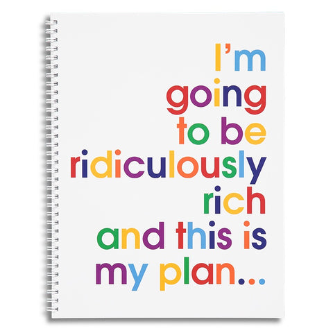 I'm going to be ridiculously rich - A4 size writing pad