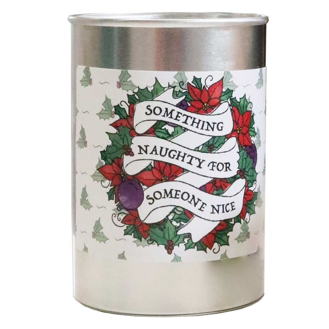 Something Naughty for Someone Nice tin of toffees
