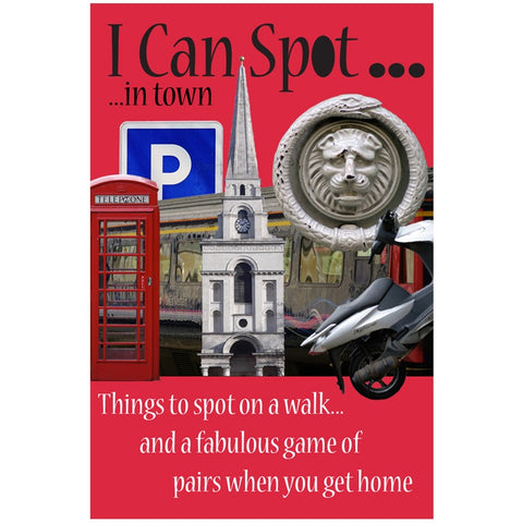 I can spot in town - 2 in 1 card game