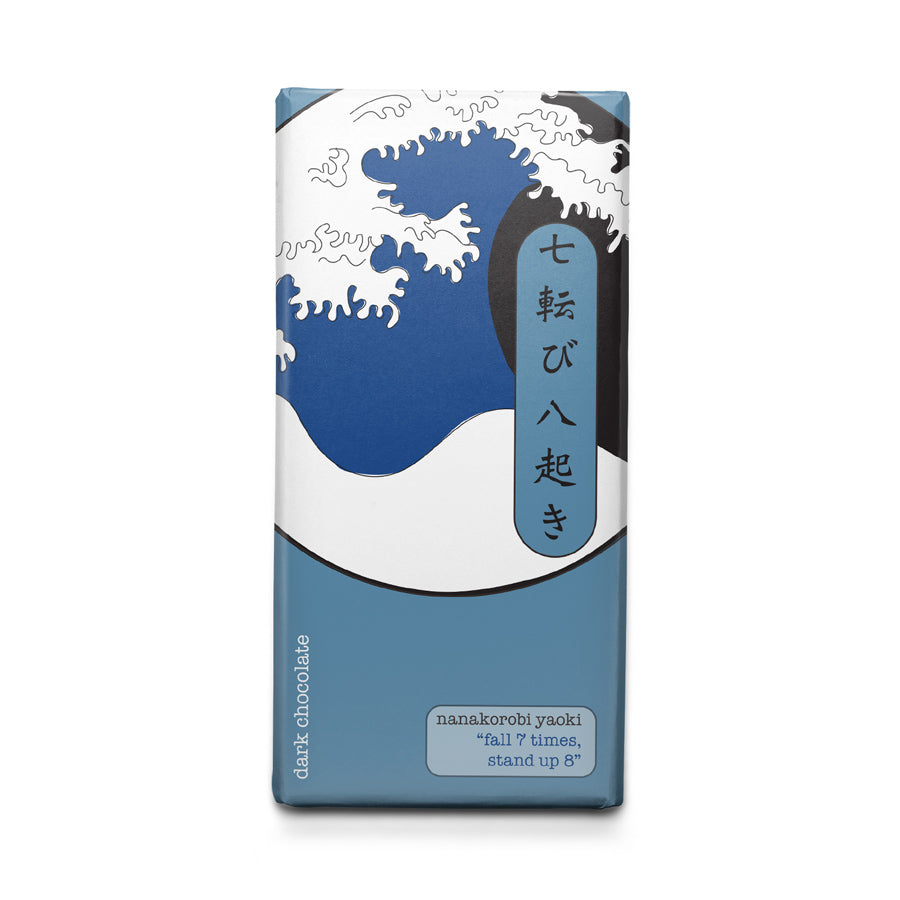 Never Give Up - Japanese Motto - Dark Chocolate Bar