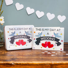 Personalised My Day At A Wedding Activity Pack