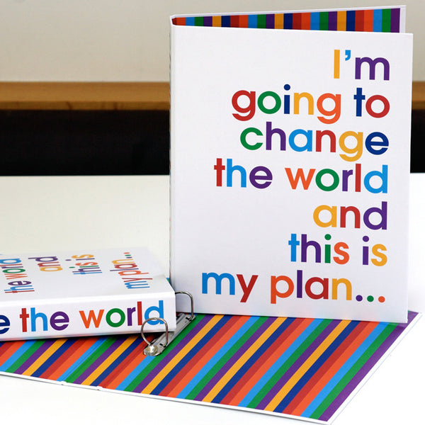 I'm going to change the world - A4 size folder