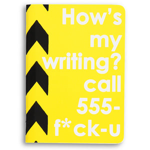 how's my writing? - sweary notebook