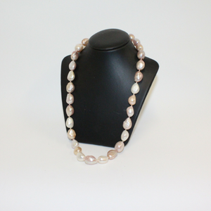 Chunky Pink and White Pearl Necklace - Broadfield Flowers Florist Lincoln