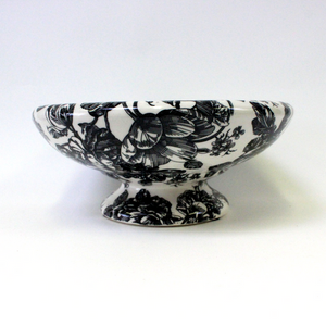 Black and White Floral Fruit Bowl - Broadfield Flowers Florist Lincoln, Christchurch