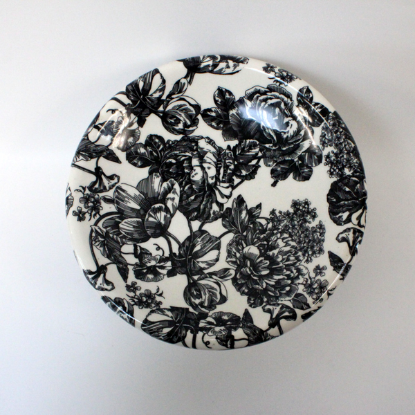 Black and White Floral Fruit Bowl - Broadfield Flowers Florist Lincoln