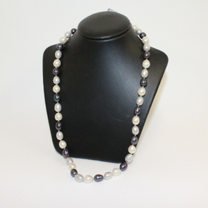 Dark Blue and White Pearl Necklace - Broadfield Flowers Florist Lincoln, Christchurch
