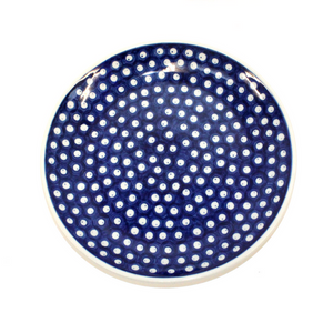 Boleslawiec Blue and White Spotted China Plate - Broadfield Flowers Florist Lincoln