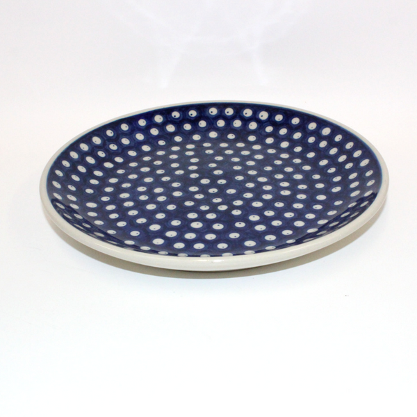 Boleslawiec Blue and White Spotted China Plate - Broadfield Flowers Florist Lincoln, Christchurch