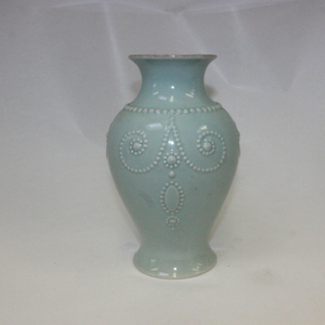 French Perle Ice Blue Vase - Broadfield Flowers Florist Lincoln, Christchurch
