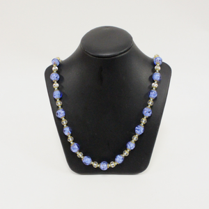 Blue Venetian Glass Beaded Necklace - Broadfield Flowers Florist Lincoln, Christchurch