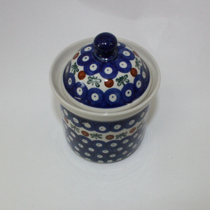 Boleslawiec Blue Spotted Pot - Broadfield Flowers Florist Lincoln, Christchurch