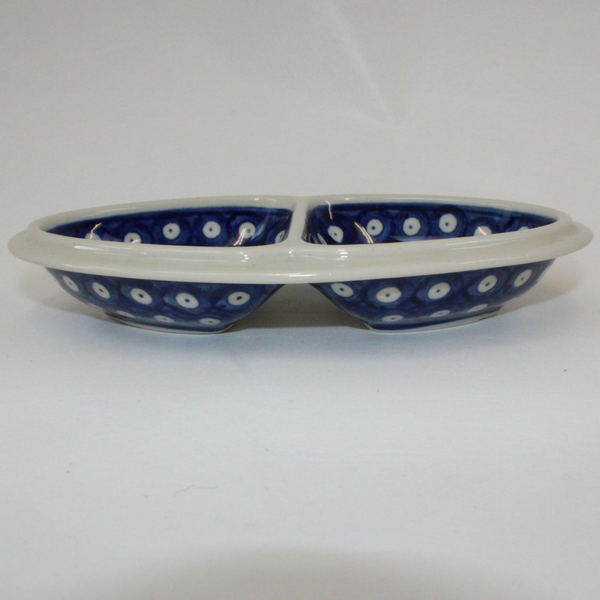 Boleslawiec Blue and White Spotted China Snack Plate - Broadfield Flowers Florist Lincoln