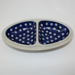 Boleslawiec Blue and White Spotted China Snack Plate - Broadfield Flowers Florist Lincoln, Christchurch