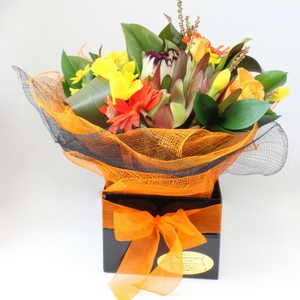 Bright Bunch in a Box - Broadfield Flowers Florist Lincoln, Christchurch