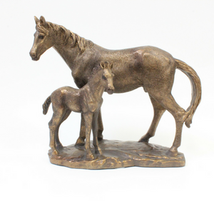 Bronze Horse and Foal - Broadfield Flowers Florist Lincoln, Christchurch