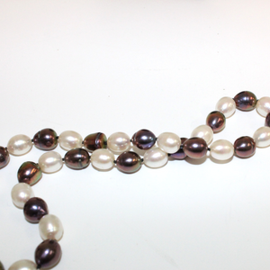 Brown and White Pearl Necklace - Broadfield Flowers Florist Lincoln, Christchurch