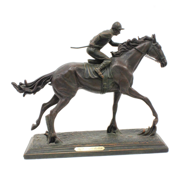 Bronze Jockey and Horse - Broadfield Flowers Florist Lincoln, Christchurch