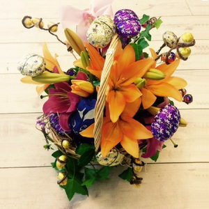 Easter Goodies Gift Basket - Broadfield Flowers Florist Lincoln, Christchurch
