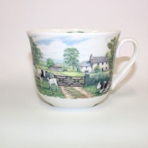 Roy Kirkham English Countryscene Cup & Saucer - Broadfield Flowers Florist Lincoln, Christchurch