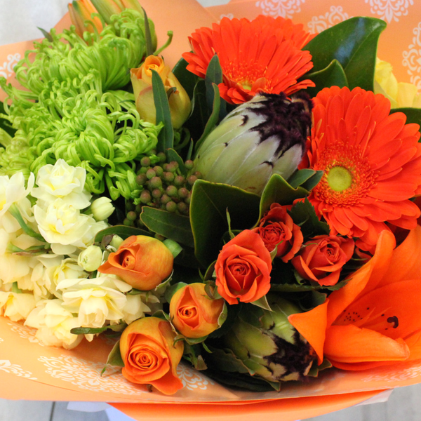 Opulent Orange - Broadfield Flowers Florist Lincoln, Christchurch