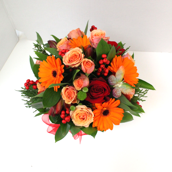African Sunset Posy Box - Broadfield Flowers Florist Lincoln, Christchurch