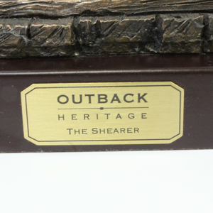Outback Heritage Bronze 'The Shearer' Figurine - Broadfield Flowers Florist Lincoln, Christchurch