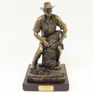 Outback Heritage Bronze 'The Shearer' Figurine - Broadfield Flowers Florist Lincoln