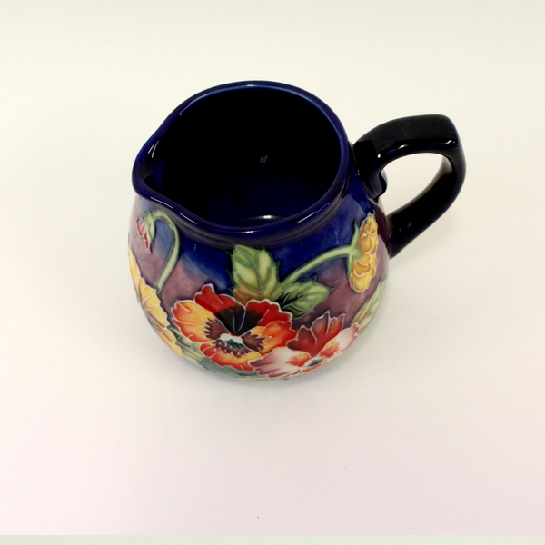Old Tupton Ware Pansy Floral Cream Jug - Broadfield Flowers Florist Lincoln, Christchurch