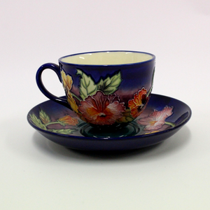 Old Tupton Ware Pansy Floral Tea Cup and Saucer - Broadfield Flowers Florist Lincoln, Christchurch