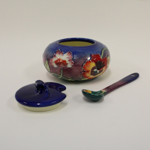 Old Tupton Ware Pansy Floral Sugarbowl - Broadfield Flowers Florist Lincoln, Christchurch