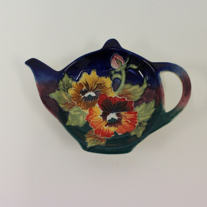 Old Tupton Ware Pansy Floral Tea Bag Tray - Broadfield Flowers Florist Lincoln, Christchurch
