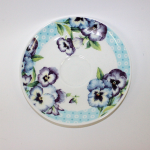 Roy Kirkham Pansy Garden Cup and Saucer - Broadfield Flowers Florist Lincoln, Christchurch