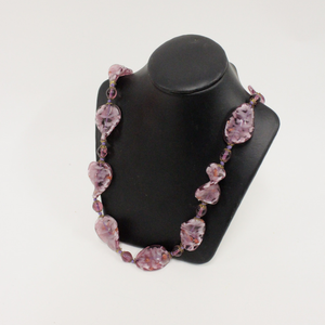 Purple Venetian Glass Beaded Necklace - Broadfield Flowers Florist Lincoln, Christchurch