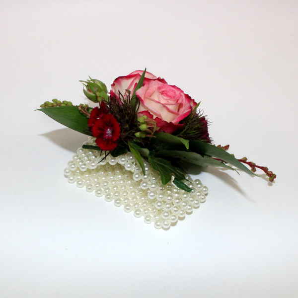 Rose Wrist Corsage - Broadfield Flowers Florist Lincoln, Christchurch
