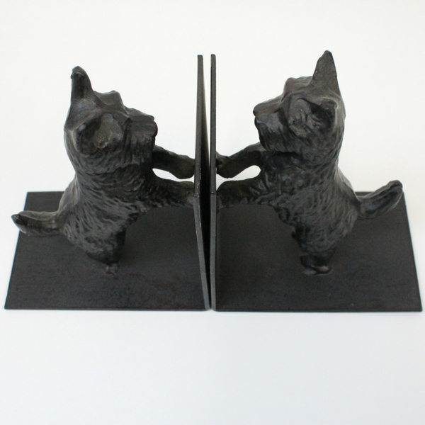 Cast Iron Scottie Dog Book Ends - Broadfield Flowers Florist Lincoln, Christchurch