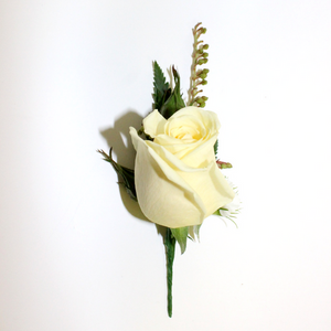 Single Rose Buttonhole - Broadfield Flowers Florist Lincoln, Christchurch