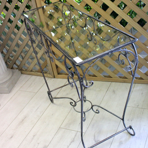 Glass Iron Table - Broadfield Flowers Florist Lincoln, Christchurch