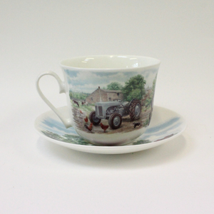 Roy Kirkham Countryside Tractors Cup & Saucer - Broadfield Flowers Florist Lincoln, Christchurch